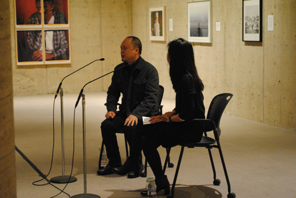 Yun-Fei Ji and Christine Ho in conversation at the screening of the Chinese film Still Life.