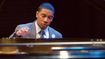 Christian Sands at piano