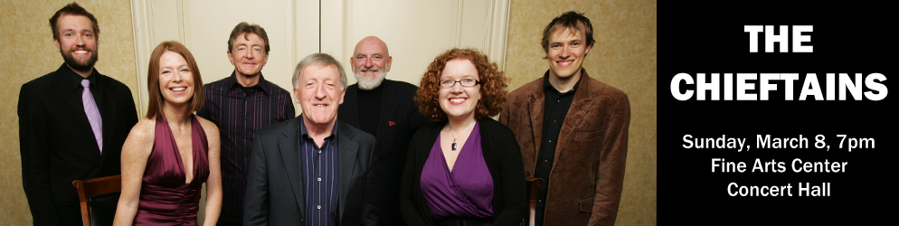 The Chieftains Sunday, March 8 @ 7:00pm in the Fine Arts Center Concert Hall