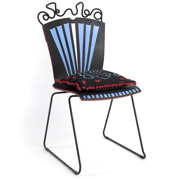 "Elizabeth Solley Caine ""Musical Pillow w. Chair"""