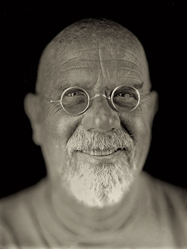 "Chuck Close, Self-Portrait, 2004; Daguerreotype; 8-1/2 x 6-1/2""; © Chuck Close in association with Jerry Spagnoli, courtesy Pace Gallery"