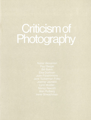 Criticism of Photography