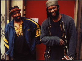 William Parker and Hamid Drake with Lewis barnes brown flip rob