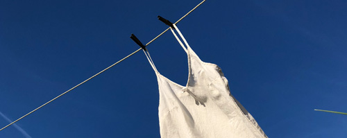 White nightgown on clothesline image by Trish Crapo
